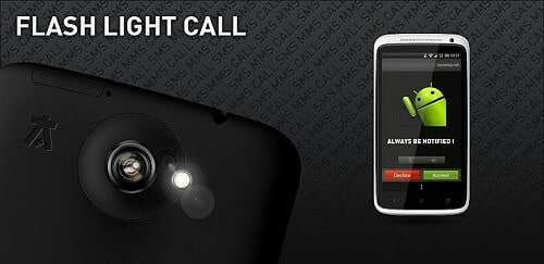 Flash Light Blink While Call Android